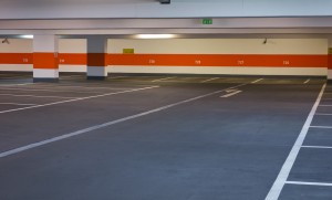 Parking garage striping in Dallas and Fort Worth. Contact C & D Commercial Services for all you striping, sweeping, pressure washing and concrete needs.