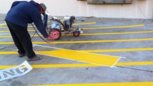 Contact C & D Commercial Services for your parking lot striping needs in dallas and fort worth