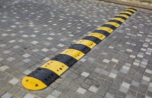 Use speed bumps to make parking lots safer