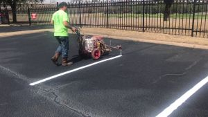 Pavement Marking Services, New layout striping, using the right striping paint