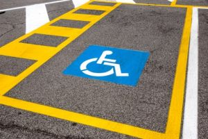handicap parking stall striping C & D Commercial Services